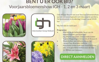 Voorjaarsbloemenshow met kennissessie en KAVB-tulpenkeuring